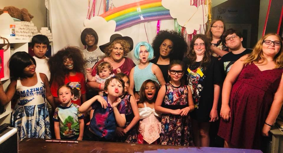 Momma Ashley Rose and Tiana Ray's 10 year old Rainbow drag party!